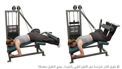 ثني العضلة المأبضية