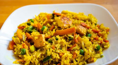 أرز ودجاج