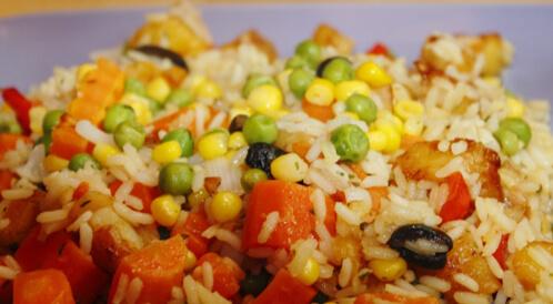 أرز بالخضراوات